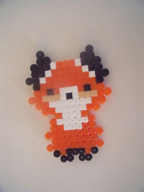 perler bead fox fox hama by thea a hama