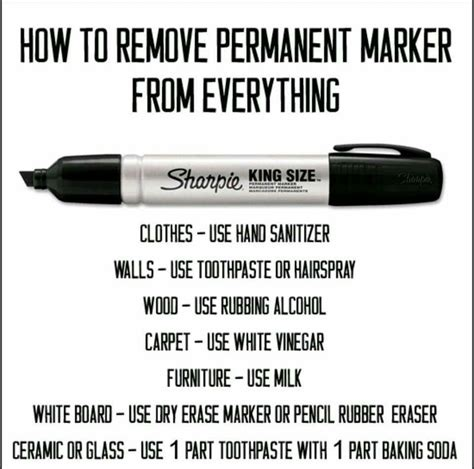Remove Permanent Marker From 25 best ideas about sharpie removal on removing sharpie remove permanent marker