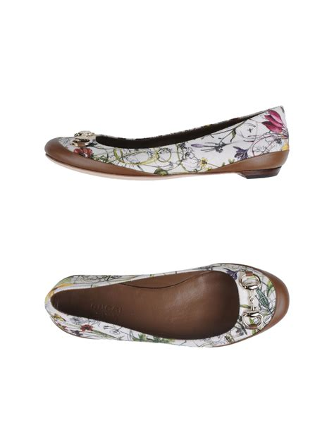 gucci shoes flats gucci ballet flats in multicolor ivory lyst