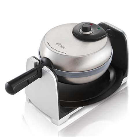 oster kitchen appliances oster 174 titanium infused duraceramic flip waffle maker at