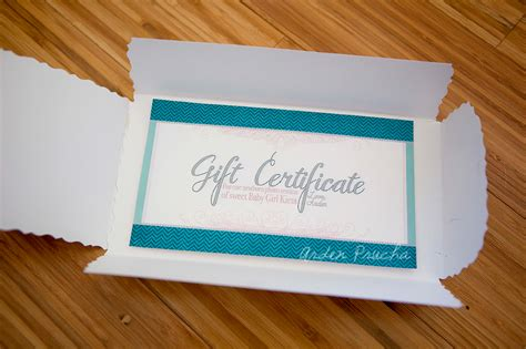 Handmade Gift Certificates - a gift certificate 187 arden prucha photography