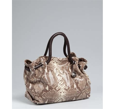 Furla Faux Snake Venere Bow Bag by Furla Roccia Snake Embossed Leather Medium Tote In