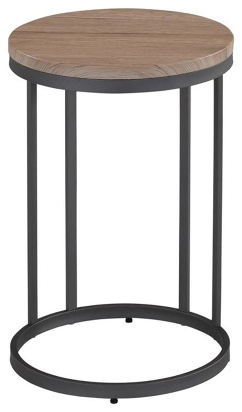 contemporary accent table washed oak and gray metal accent table contemporary