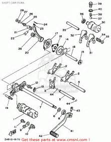 yamaha yfm350fww big bear 1989 shift cam fork schematic