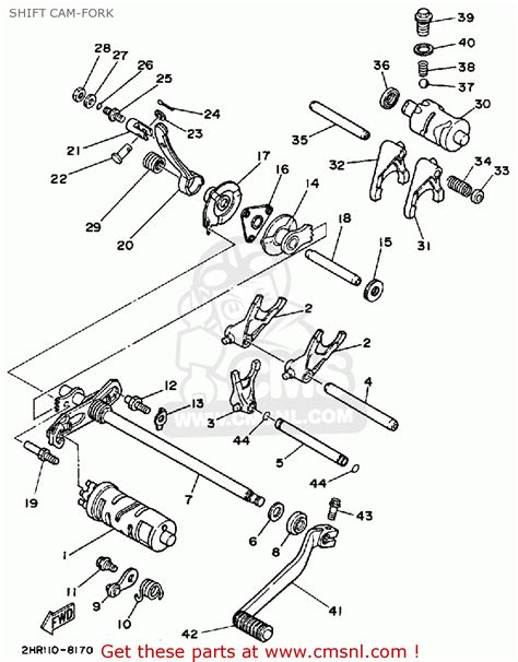 yamaha big parts diagram yamaha yfm350fww big 1989 shift fork schematic