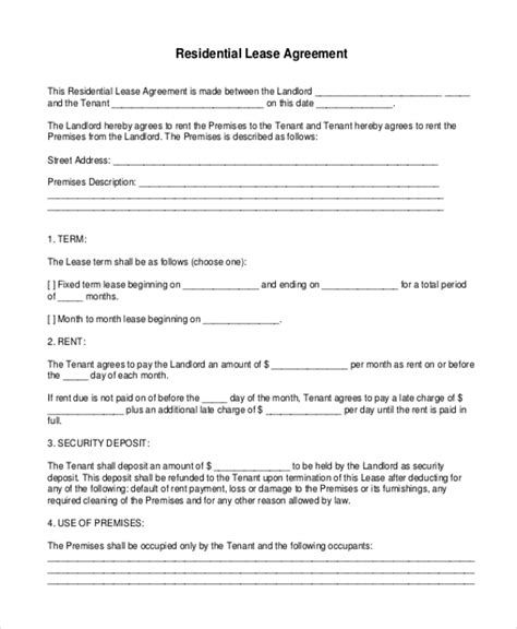printable lease agreement nc free lease agreement form commercial lease free illinois