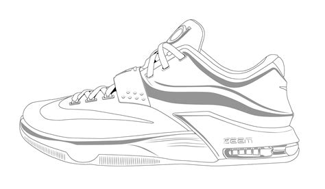 drawings of basketball shoes basketball shoe coloring pages and print for free