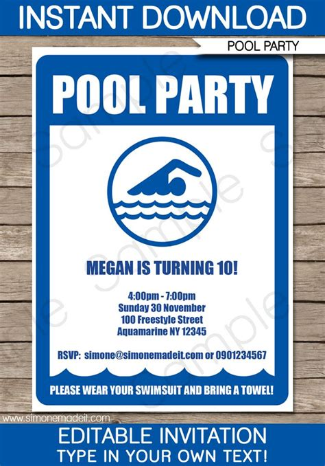 swimming invitation template free 17 best ideas about swim invitations on