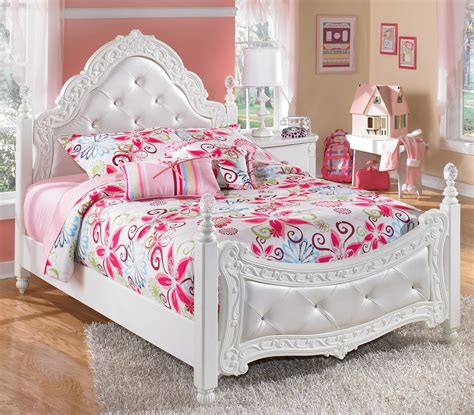 girls bedroom furniture sets with rose bedcover design