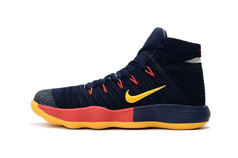 Nike React Hyperdunk 2017 nike react hyperdunk 2017 flyknit black yellow blue for sale hoop