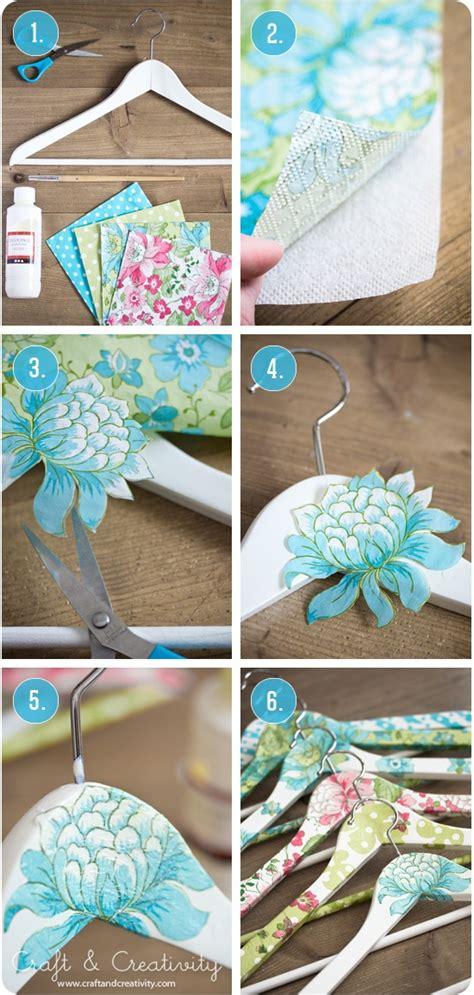 Diy Hangers - ideas con decoupage todo bonito