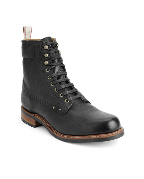 rag bone mens boots rag bone officer boot in black for lyst