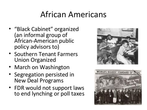 Black Cabinet Great Depression during the great depression