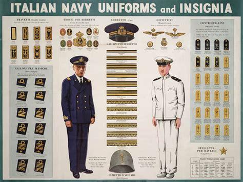 navy uniform rank insignia wwii italian navy uniforms and insignia world war ii