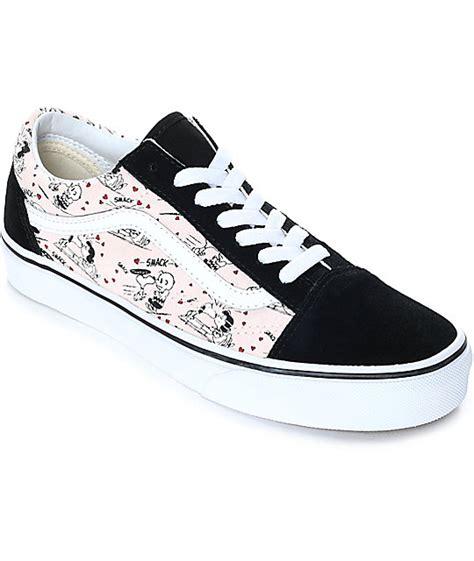 pattern old skool vans vans x peanuts old skool smack pearl skate shoes zumiez