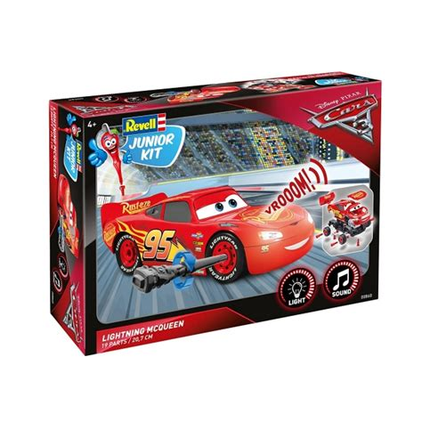 Lightning Mcqueen Model Car Kit Lightning Mcqueen Cars 3 Level 1 Revell Junior Kit
