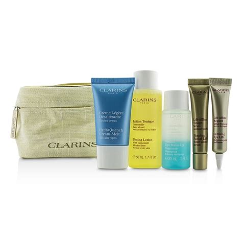 Clarins Hydraquench Gel 15ml clarins travel set toning lotion 50ml eye makeup remover 30ml hydraquench 15ml contouring