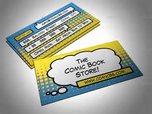comic business cards comic book store business card by freshinkstain graphicriver