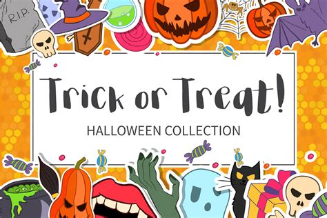 Trick Or Treat Graphic 8 trick or treat collection graphic by
