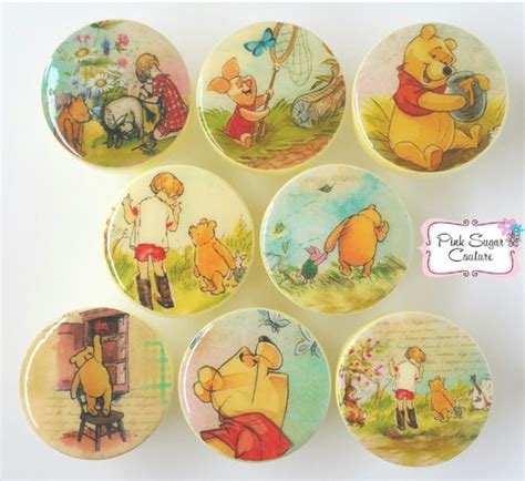winnie the pooh knobs drawer pulls classic version m2m bedding