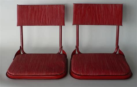 Stadium Chairs With Backs by Vintage Stadium Seats Bleacher Backs Fishing By