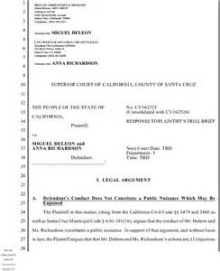 Trial Brief Template by City Attorney Barisone S Attack On 2 Homeless Sentinel