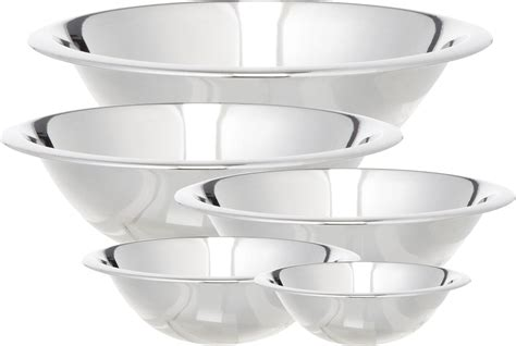 Home Decor Artificial Plants Cook Pro 5 Piece Stainless Steel Mixing Bowl Set Amp Reviews