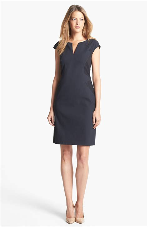 Cap Sleeve Sheath Dress papell cap sleeve sheath dress in gray eclipse