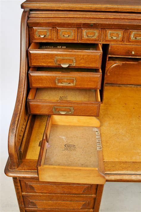 cabinet makers buffalo ny late 19c oak roll top desk by cutler of buffalo ny