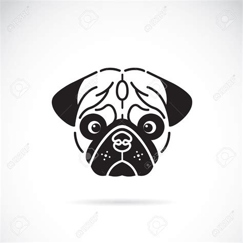pug vector pug vector image of pugs clipart panda free clipart images