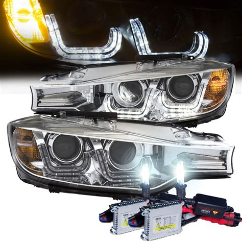 bmw f30 aftermarket headlights hid xenon 12 14 bmw f30 3 series sedan u shaped led bar