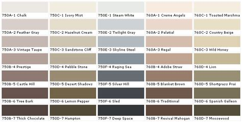 behr taupe paint color chart