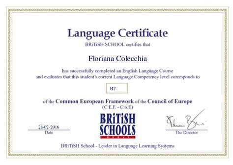 test inglese b2 certificate b2 level