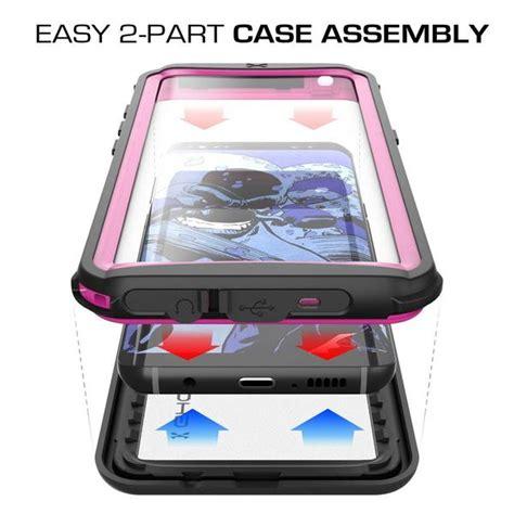 galaxy  waterproof case ghostek nautical series pink