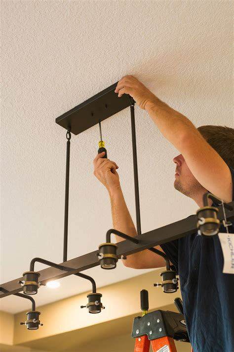 Dining Room Light Fixture Installation by Power Your Reno Installing A Dining Room Light With An Lec