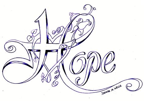 hope tattoo design quot quot design by a quot quot