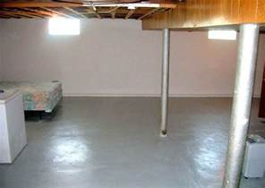 how to clean cement basement floor