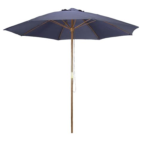 Astonica 50140736 Patio Outdoor Wood Pole Umbrella 9 Navy Patio Umbrella Pole