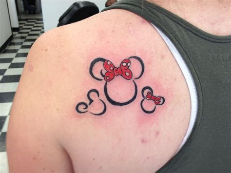 kid tattoo mickey and minnie and tattoos