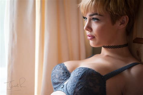 Short Hair Lingerie | wallpaper women model looking away long hair choker