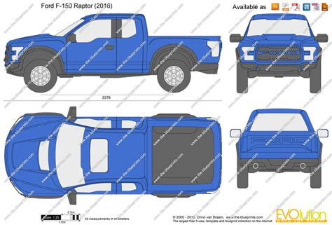ford raptor dimensions the blueprints vector drawing ford f 150 raptor