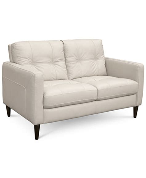 macy s loveseat keaton leather loveseat created for macy s furniture