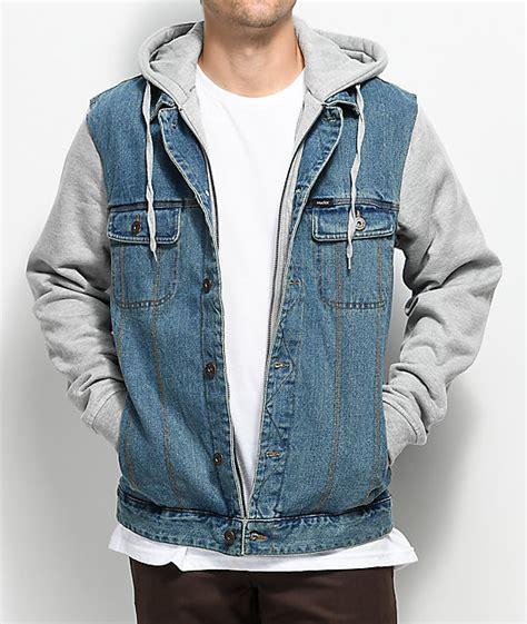 light grey denim jacket matix union trucker 2fer light denim grey jacket zumiez
