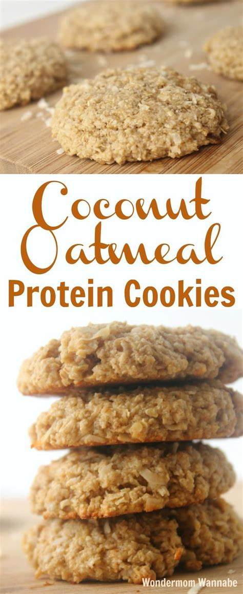 protein cookie recipe coconut oatmeal protein cookies recipe oatmeal protein