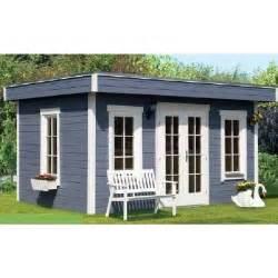 chalet de jardin bois basel toit plat epaisseur achat