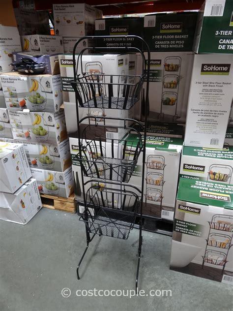 so home 3 tier floor basket