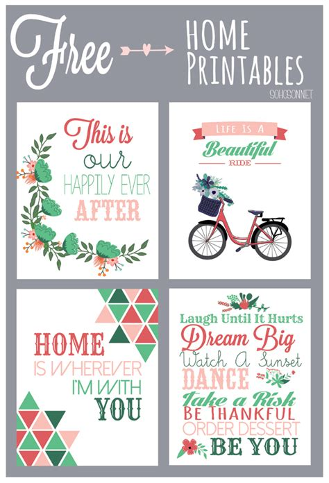 free printable free printables for the home sohosonnet creative living