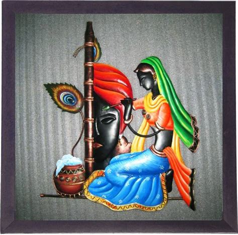 krishna clock themes lila paintings radha krishna canvas painting price in