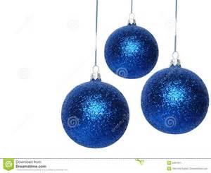 Clip On Christmas Ornaments - bolas azules de la navidad imagen de archivo imagen 2401511