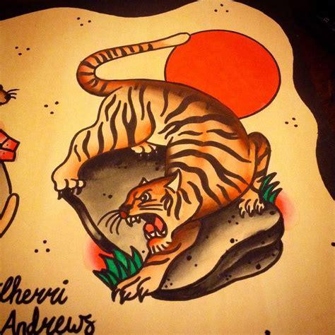 latin tattoo london tiger painting by cherri andrews latin angel studio